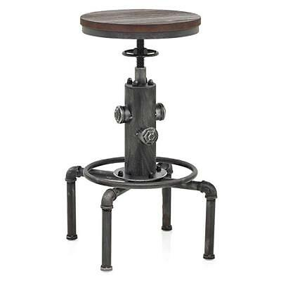 Furniture Industrial Swivel Bar Stool Adjustable Antique Pu Seat Fire Hydrant Dining Chair Durable Service