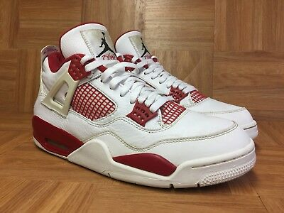 lowest price 5f143 36f87 ... canada worn nike air jordan iv 4 retro alternate 89 white gym red sz 11  8fdaf