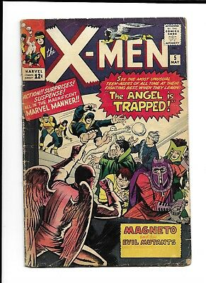 X-Men #5 (1964, Marvel) 2nd Scarlet Witch   Lower Grade  Complete   GD/VG