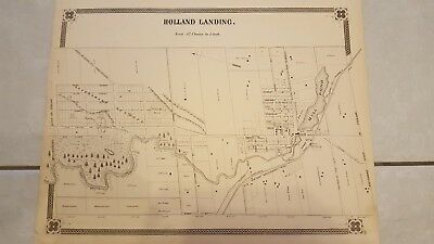 Antique Map of Holland Landing, Ontario from 1878