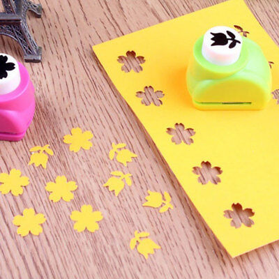 EB0C Cute GTE DIY Tool Hand Shaper Scrapbook Hole Punch Shaper Portable Child
