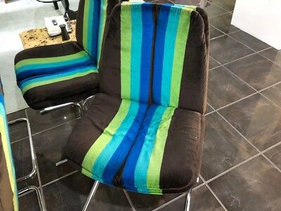 Vintage Retro 1960s 1970s Dinning Chairs x 4