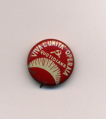 US Communist Vintage 1930s Italian Language Political Pin CPUSA