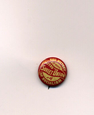 US Communist Vintage 1934 CPUSA Defend the Soviet Union Political Pin Socialism