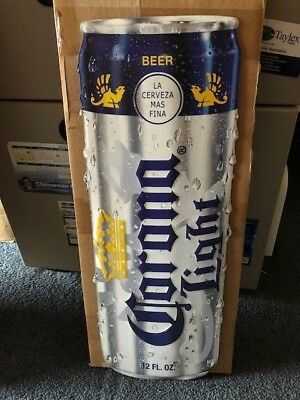 American Metal Embossed Beer Sign  Corona Light Can
