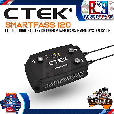 Ctek Smartpass 120 Dc To Dc Dual Battery Charger Power Management System Cycle
