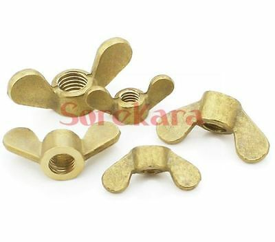 M4*0.7 M5*0.8 M6*1.0 M8*1.25 M10 M12 M16 Brass Wing Nuts Thumb Butterfly