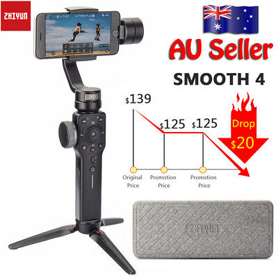 Zhiyun Smooth 4 3-Axis Handheld Gimbal Stabilizer for iPhone Action Camera AU