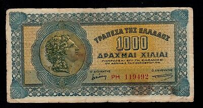 Greece  1000 Drachmai  1941  Ph Pick # 117 Fine.