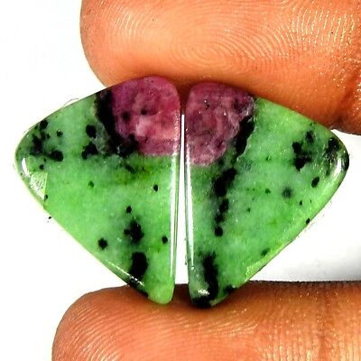 20.30Carat Natural Ruby Zoisite Fancy  Pair Loose Gemstones Free Shipping