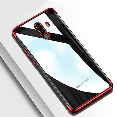 Shockproof Plating Clear Slim Soft TPU Case Cover For Xiaomi Pocophone POCO F1