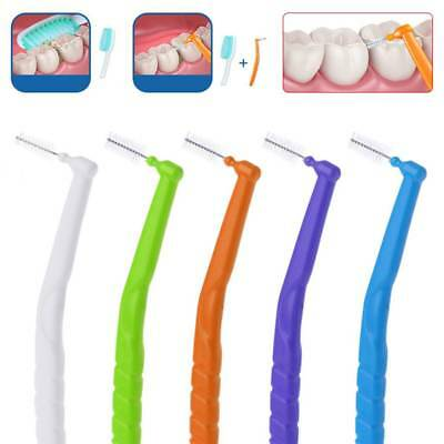 L Shaped Interdental Brush Toothbrushes 10pcs 0.7-1.2mm Oral Dental Care Floss