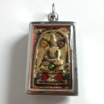 Pendant Necklace Phra Somdej Dungeon Kru Magic Holy Great Kindness Safe All B105