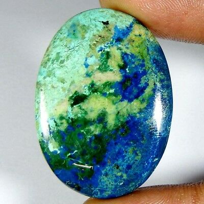 Chrysocholla Azurite 52.90 CtsNatural Top Quality  Oval Cab+Loose Gemstone