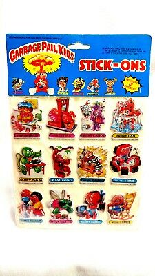 TOPPS Vintage 1985 Garbage Pail Kids GPK Stick-On Pictures Stickers Sealed MIP