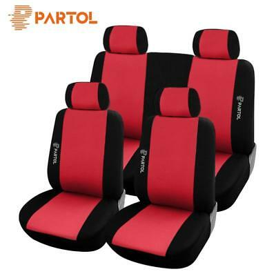 Universal Car Seat Covers Set Front Rear Head Rests Cushions Breathable SUV Auto