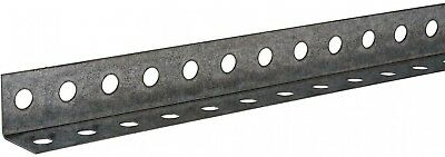 Everbilt Zinc-Plated Punched Angle Slotted Hole Steel Silver Metallic Indoor New