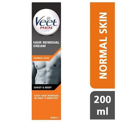 VEET for MEN Hair Removal Cream For Body 200 ml Chest Back Underarms 3-6Min Guy