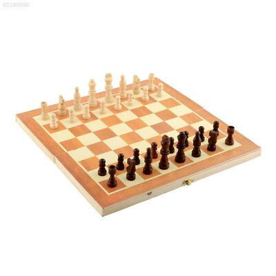 9BF9 Quality Classic Wooden Chess Set Board Game 34cm x 34cm Foldable Gift Fun