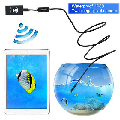 Rigid Waterproof 1200P Wifi 5M Endoscope Tube Video 8LED Camera for IOS Android