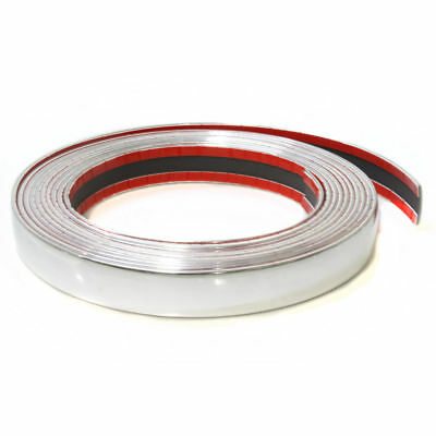 25mm Chrome Car Styling Tuning Moulding Strip Trim Self Adhesive Tape 5 metre