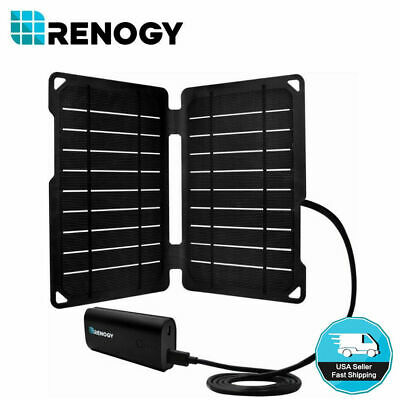 Renogy 10 Watt 10W Folding Solar Panel Charger w/ USB Port Outdoor Phone Camping
