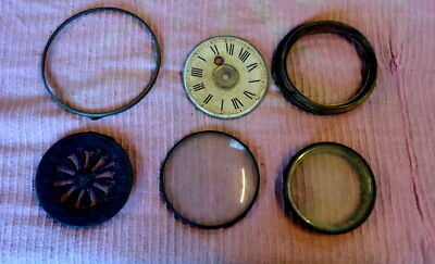"Antique  ""6 in No.""   Clock Fronts and Bezels. For Spares or Repair"