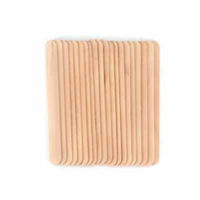 100 x Ice Cream Sticks Flat Wooden Handmade Crafts Timber Popsicle Sticks DIY LS