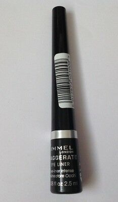 RIMMEL EXAGGERATE EYE LINER 100% BLACK  2.5ml