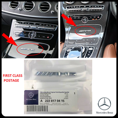 Small Mercedes AMG Badge Cockpit Centre Console Dashboard Interior C E A S CLASS
