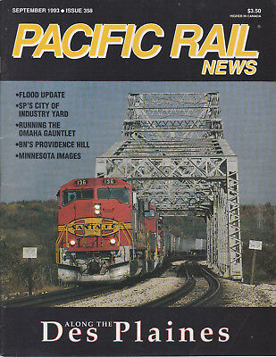 Pacific Rail News 9/93 Sp City Of Industry, Bn, Minnesota, Omaha, Des Plaines