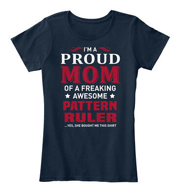 Stylish Pattern Ruler - I'm A Proud Mom Of Freaking Women's Premium Tee T-Shirt