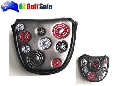 1Pcs Odyssey Swirl Mallet Golf Putter Headcover Head Cover - Silver