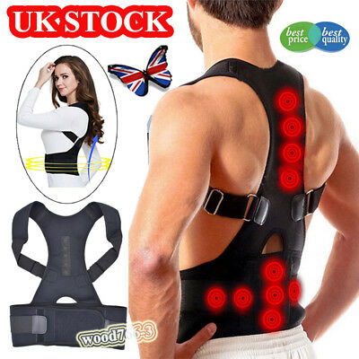 Posture Corrector Adjustable Back Brace Support Shoulder Belt  Straighten Unisex