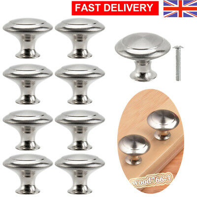 Door Handles Cabinet Knobs Cupboard Drawer Kitchen Stainless Steel Knobs Chrome
