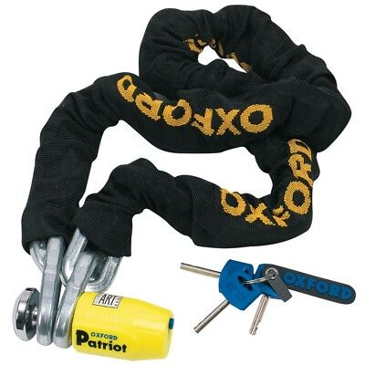 Oxford Patriot Thatcham Approved Motorcycle Disc Lock & 1.5meter 12mm Link Chain