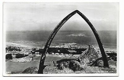 North Berwick from the Whale's Jaw on the Law 1961 Real Photo Postcard 482J