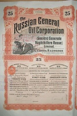 Russian General Oil Corpoation  1913   25 Shares
