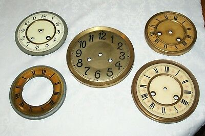 Collection Of Antique Mantel Clock Bezels & Faces, Spares/Repair