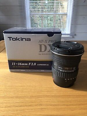 Tokina AF 11-16mm f2.8 AT-X 116 Pro DX II Lens for Canon Slight cosmetic damage