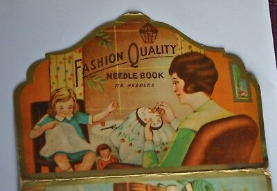 Nadelmappe    Needle Book    Nadelbuch   Rarität   Fashion proof needles   RRR