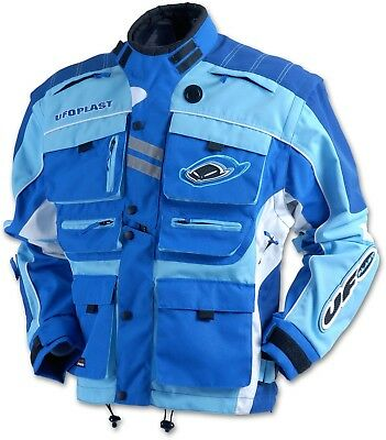 UFO Blue Enduro Jacket MX Enduro Trials Green Laning  - Large