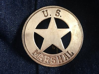 Nice Old West Badge ' US Marshal ' - western * cowboy * novelty* SASS