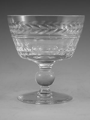 "STUART Crystal - ARUNDEL Cut - Saucer Champagne Glass / Glasses - 3 3/4"" (2nd)"