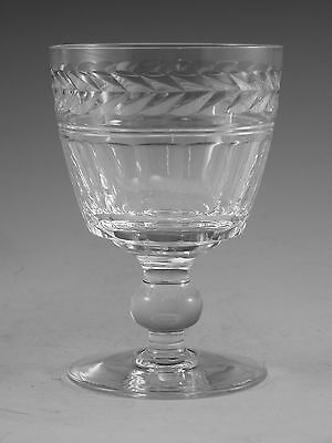 "STUART Crystal - ARUNDEL Cut - Wine Glass / Glasses - 4"" (1st)"