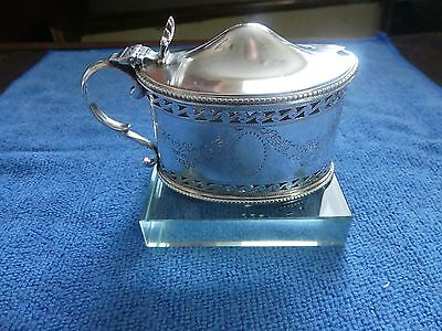 Antique Sterling Silver Mustard Pot by Goldsmiths & Silversmiths Co. Ld. c1911