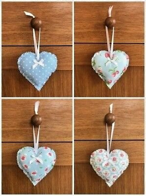 Hanging Heart Decoration made in Cath Kidston Fabric with Lavender/Fibre Filling