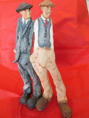 Views of Life Country Artist A RIGHT PAIR figures. approx 38cms tall unboxed
