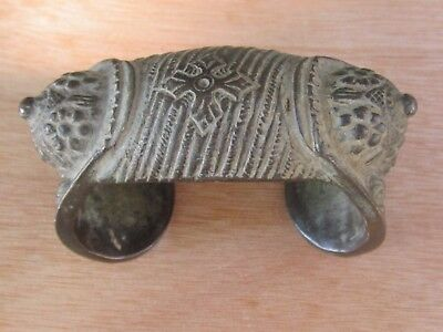 Antique Ottoman Greek Balkan Folk Jingle Bracelet Silver Alloy-19Th C