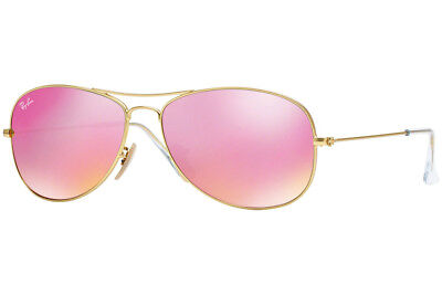 3f97ce888f Ray-Ban Cockpit RB3362 112 4T Gold Frame Cyclamen Flash 59mm Lens Sunglasses